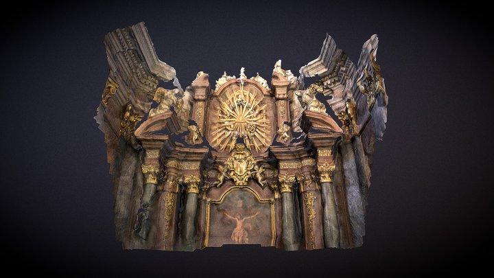 Petra Pavla Church interior 05 3D Model