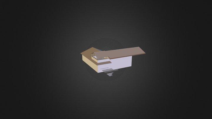 Tettoia Terrazzo Casa 3D Model
