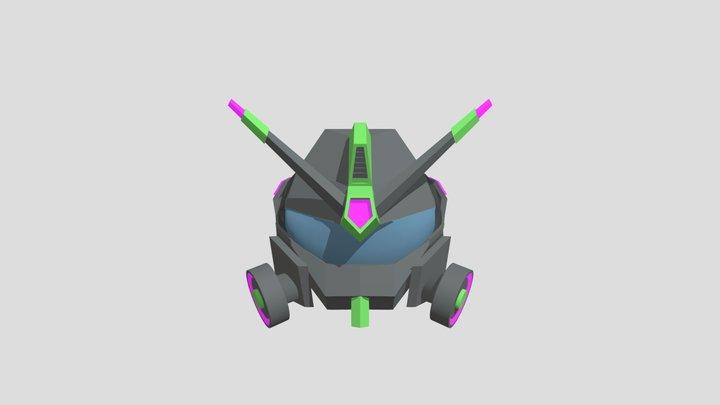 Mech-Helmet 3D Model
