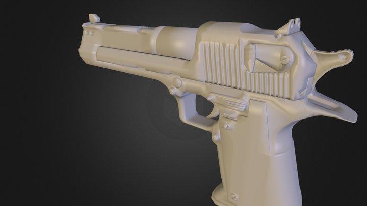 Pistol N E Lowpoly Final 3D Model