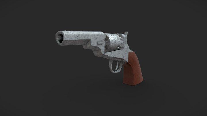 Pistol Pewter 3D Model