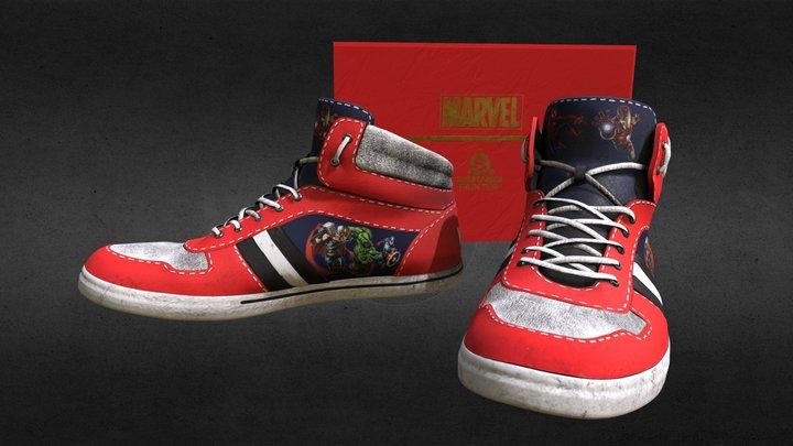 Marvel shoes 3D Model