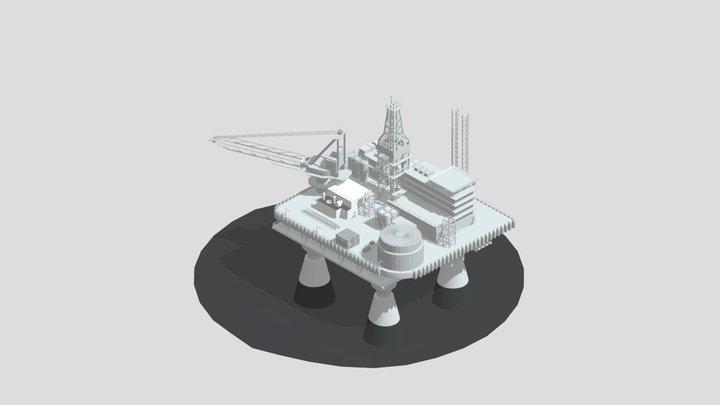 Offshore platform 3D Model