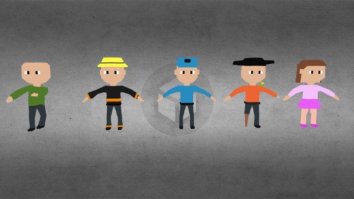 LP Characters 3D Model