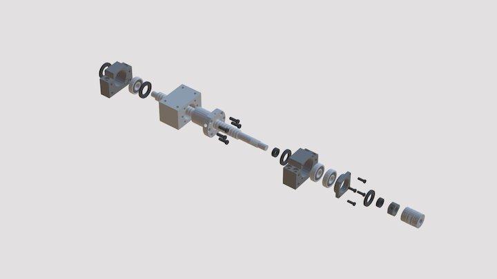 Ballscrew Parts 3D Model