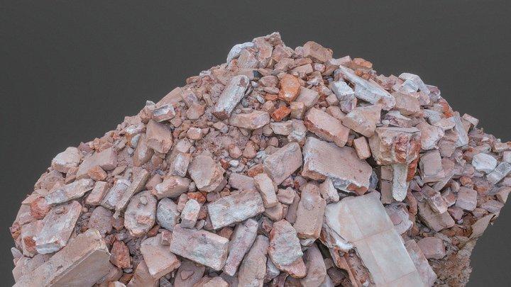 Heap of construction debris bricks 3D Model