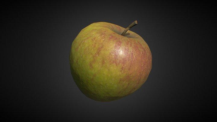 Cox's Orange Pippin apple lowpoly photogrammetry 3D Model