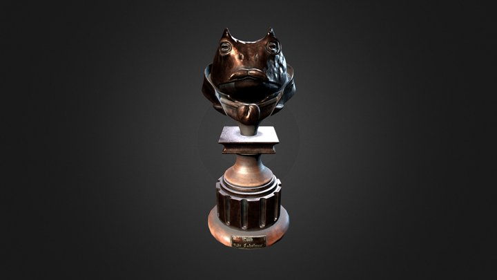 ToadBust_Low 3D Model