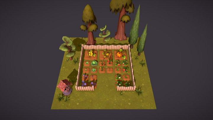 Farm plants 3D Model