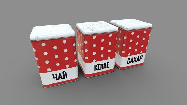 USSR Metal Can/Jars 3D Model