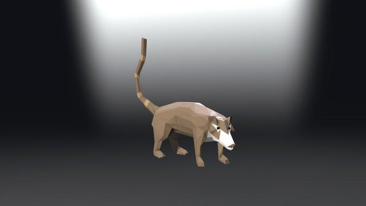 Coatí de nariz blanca/Pizote (Nasua narica) 3D Model