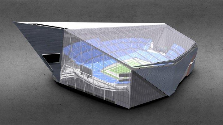 Campus Indoor Stadium 3D Model