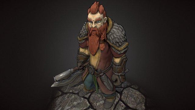 Iron Dwarf Warrior 3D Model