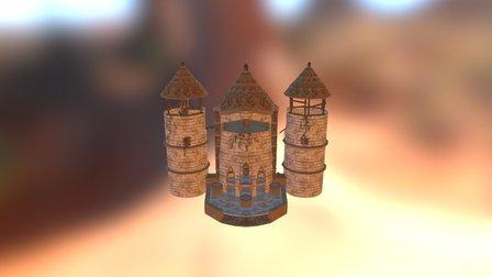 Temple 001 3D Model