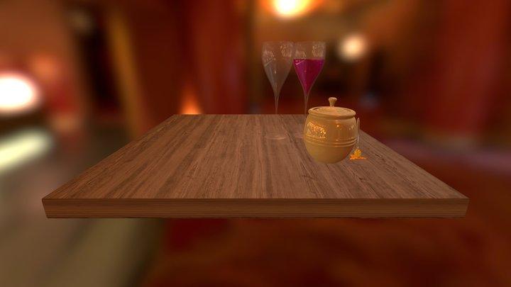 Goblet & Honey pot 3D Model
