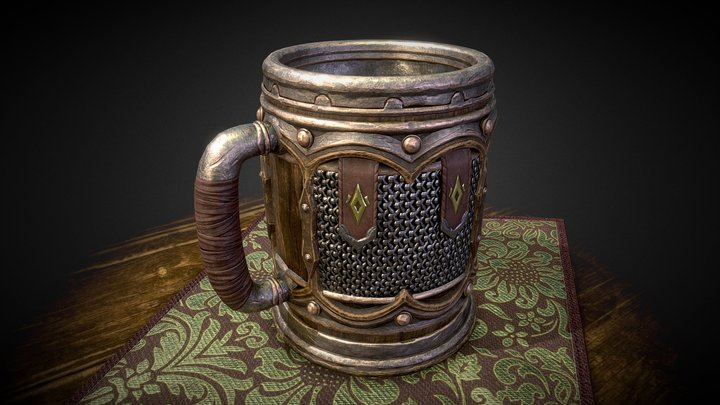Viking Beer Mug #GDCBeerbustChallenge 3D Model