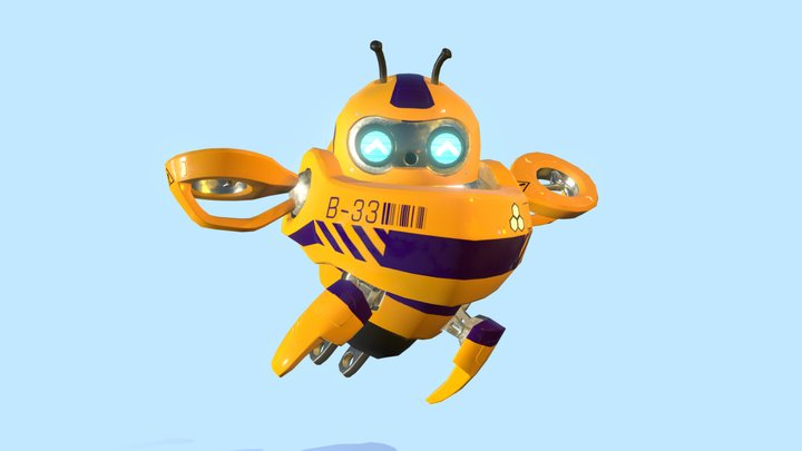 B33 - Pollinator Robot 3D Model