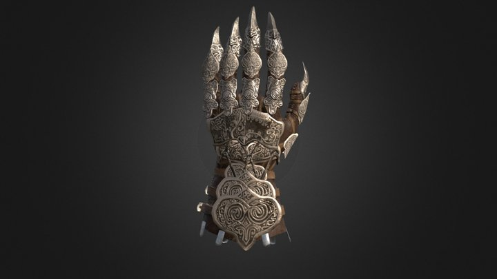 Gauntlet Of The Motivated Artist 3D Model
