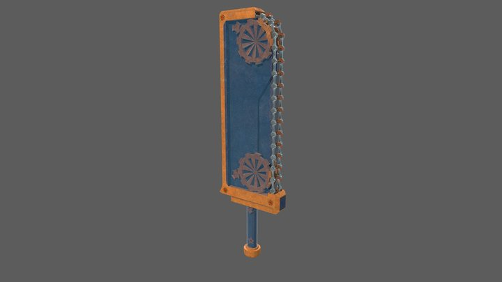 Chain Sword 3D Model