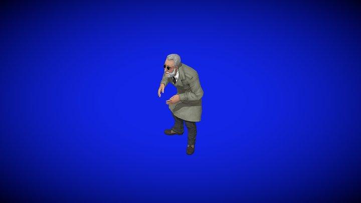 Jean Reno, Old Man Idle 3D Model