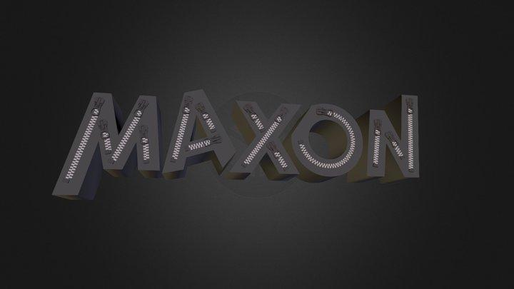 MAXON ZIPPER FONT 3Ds 3D Model