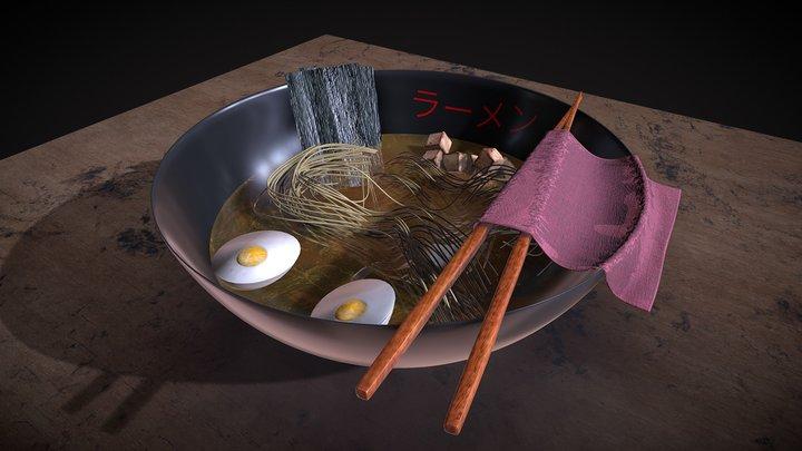 Ramen Bowl 3D Model