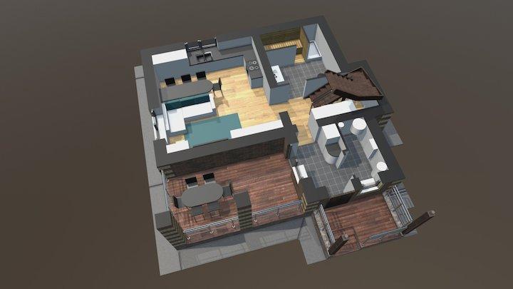 Проект «Уютный» 1 этаж 3D Model