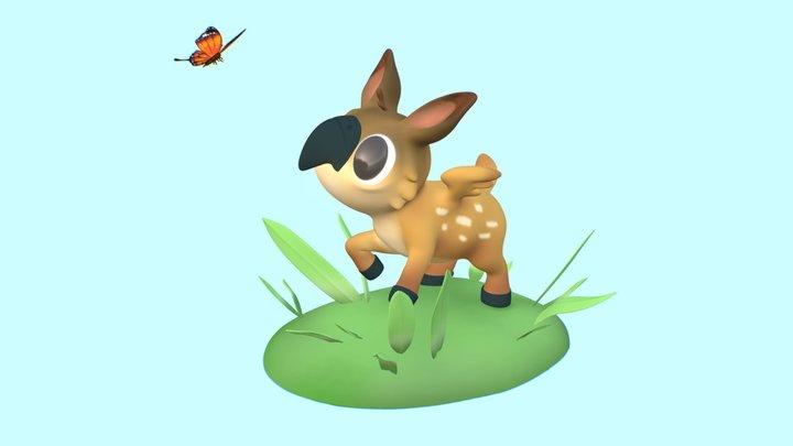 Griffawn calf 3D Model
