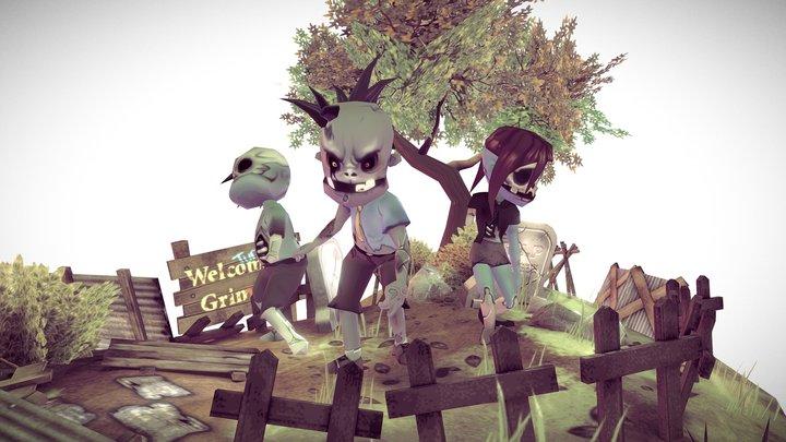 Zombietooth Diorama 3D Model