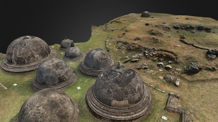 Kantharodai Stupas: Central and Eastern Sections 3D Model