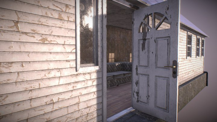 Abandoned Wooden House 3D Model