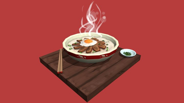 #FoodChallenge - Gyudon Bowl 3D Model