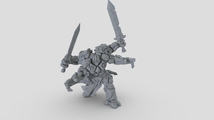 Rune Golem - Runewars Miniature 3D Model