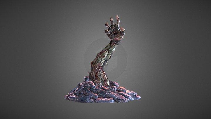 Zombie Tabletop Arm 3D Model