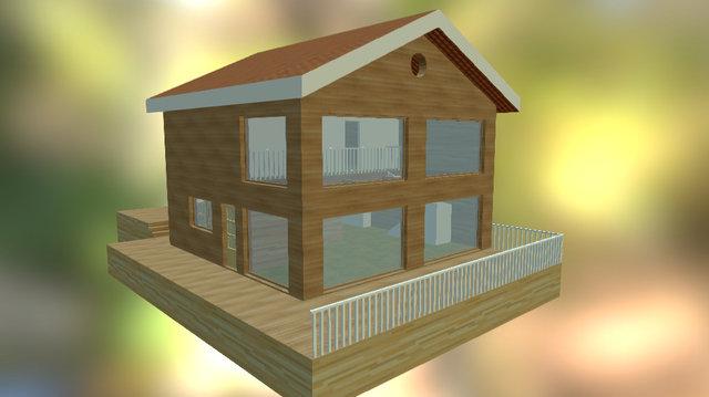 Amber House 3D Model