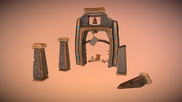 LowPoly Food and Archway-VillageProjectAssetsDMU 3D Model