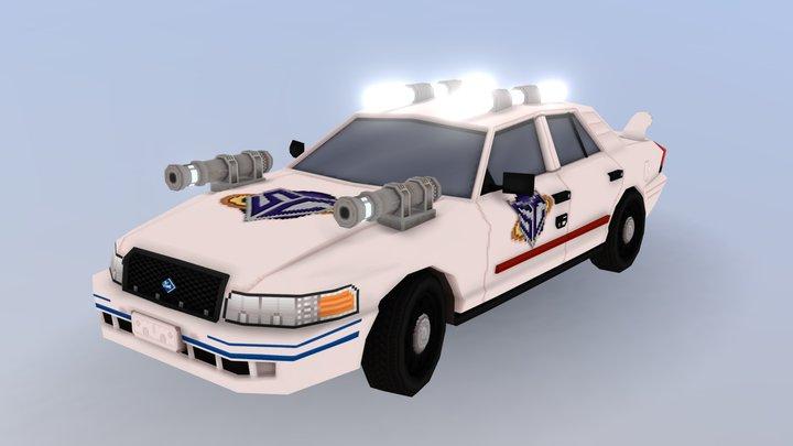 Space Cop's Car 3D Model