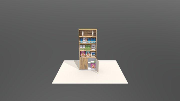 Bokhylla Attic Wood 3D Model
