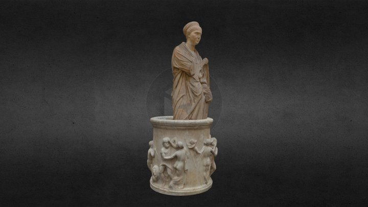 Roman Woman in the Well 3D Model