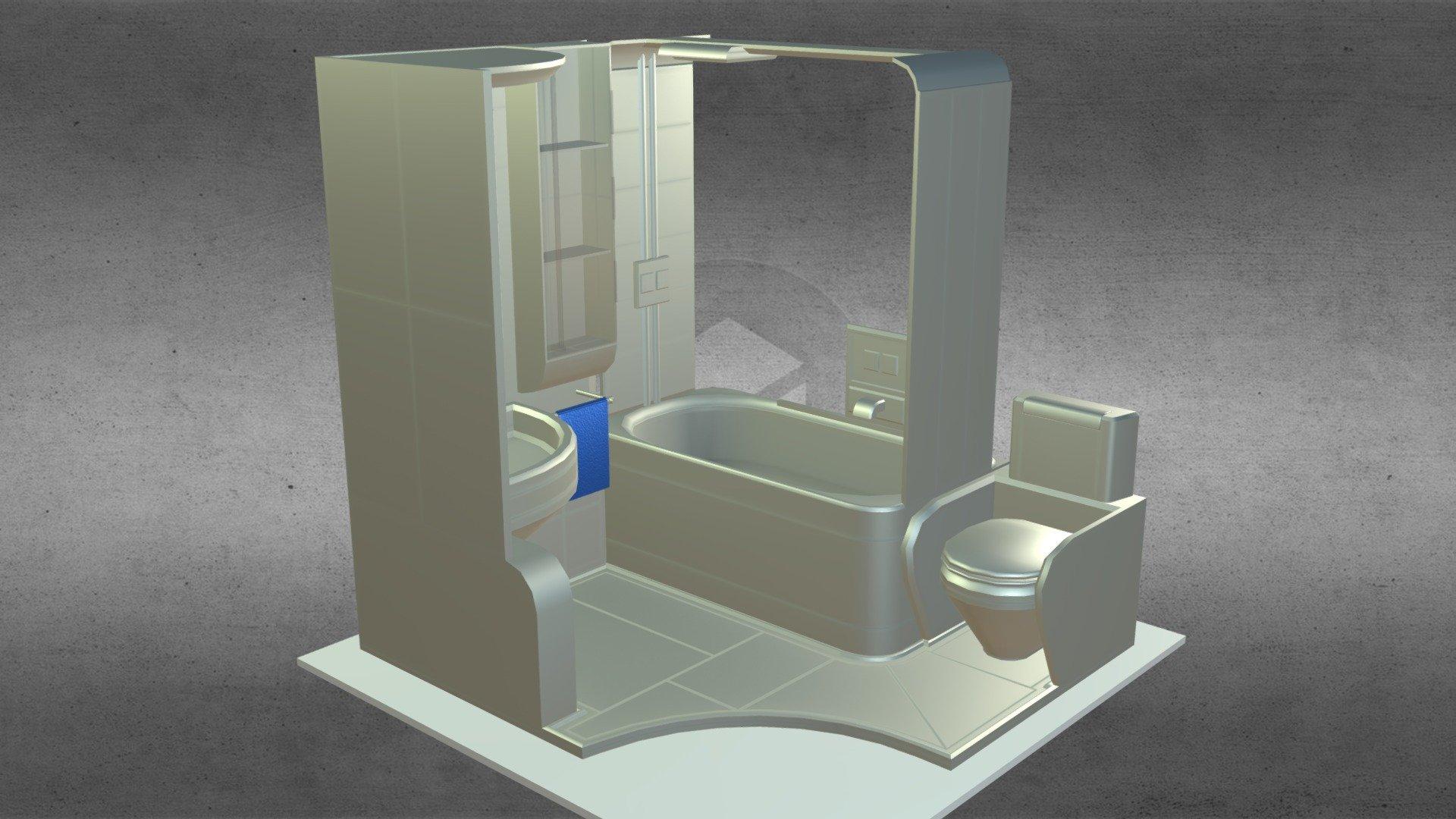 compact bathroom module
