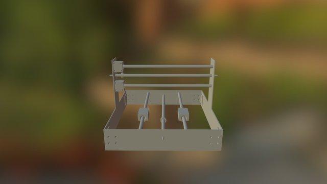 CNC Fixed Gantry 3D Model