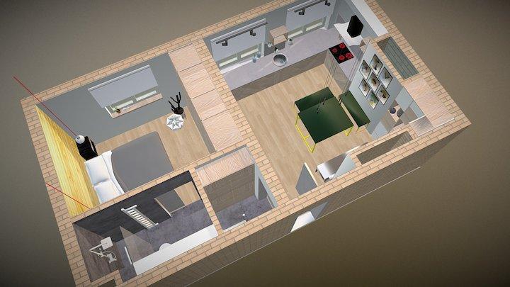 Mieszkanie Trójkom 3D Model