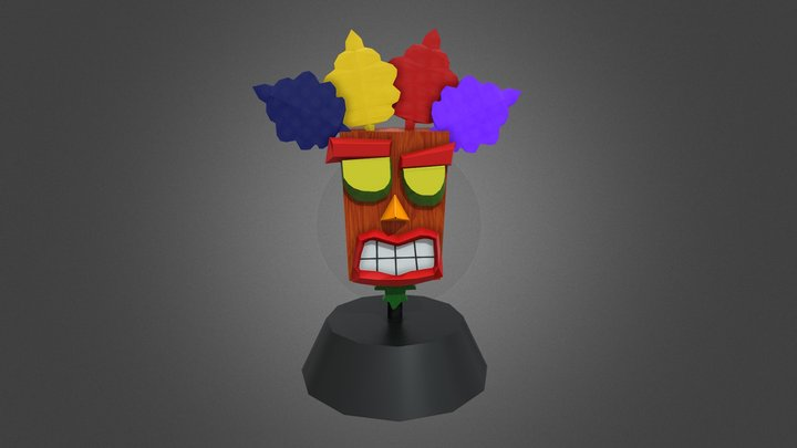 Crash Bandicoot - Aku Aku 3D Model