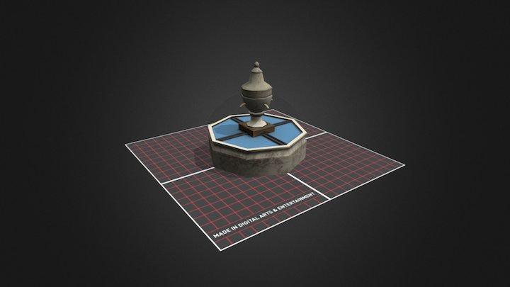 Fountain Prop CityScene 3D Model