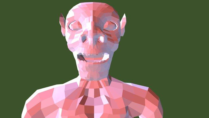 Low Poly Goblin 3D Model