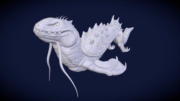 Underwater Lizard: Bavaria 3D Model
