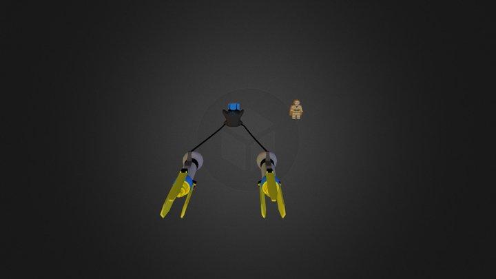 Vainas de carreras 3D Model