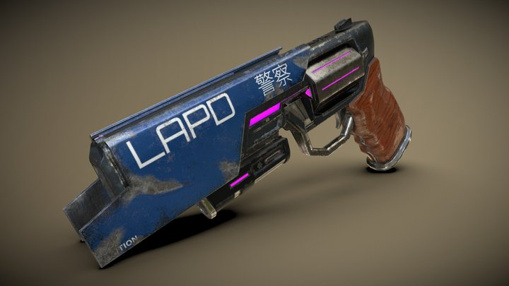 SciFi Revolver: Detective Special 3D Model