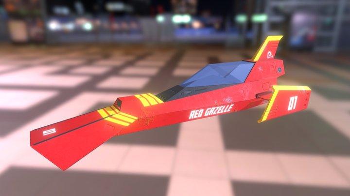 Red Gazelle 3D Model