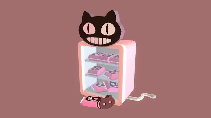 Cookie Cat 3D Model